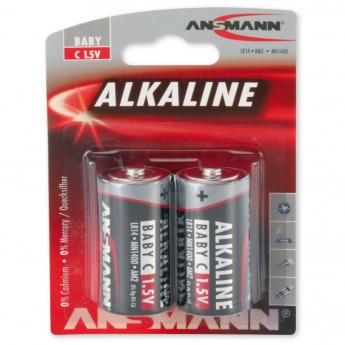 Alkaline baterijas, Baby, C, LR14, 2 gab.