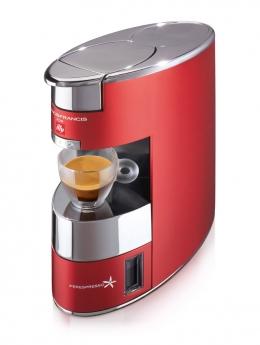 Kafijas automāts Illy X9, alumīnija, sarkans